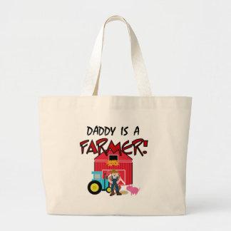 Daddy is a Farmer Jumbo Tote Bag