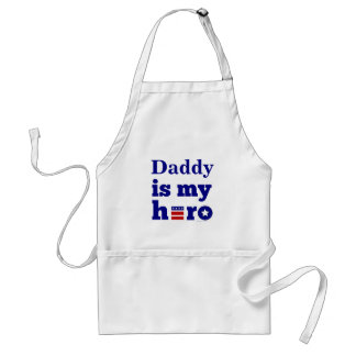 Daddy is My Hero Patriotic Red White and Blue Standard Apron