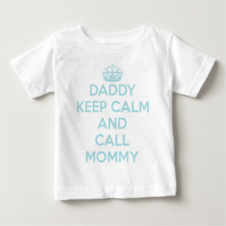 Daddy Keep Calm T-Shirt (Light Blue)