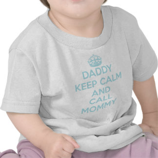 Daddy Keep Calm T-Shirt Light Blue