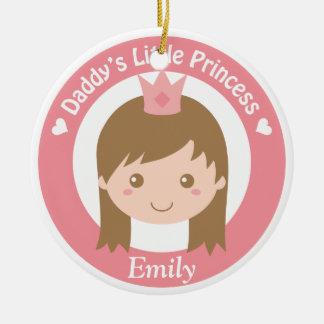 Daddy Little Princess, Cute Princess with Tiara Christmas Ornament