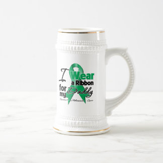 Daddy - Liver Cancer Ribbon.png 18 Oz Beer Stein