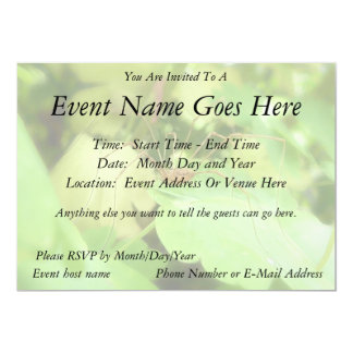Daddy Long Legs In The Garden Personalized Invitation