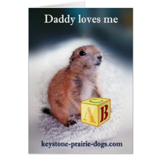 """""""Daddy loves me"""" baby clothes Greeting Card"""