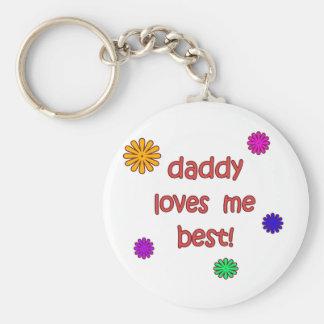 Daddy Loves Me Best! Key Ring