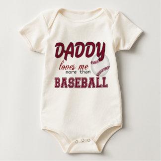 Daddy Loves Me More Than Baseball Baby Bodysuit
