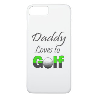 Daddy loves to Golf Iphone Cell Case