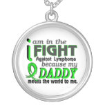 Daddy Means The World To Me Lymphoma Necklace
