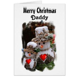 Daddy / Merry Christmas - Snowmen Greeting Card