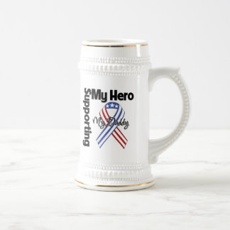 Daddy - Military Supporting My Hero Beer Stein