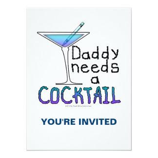 DADDY Needs a Cocktail 14 Cm X 19 Cm Invitation Card