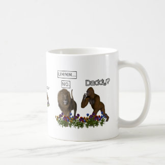 Daddy? NO says the lion to the gorilla Mug