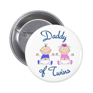 Daddy of Twins 6 Cm Round Badge