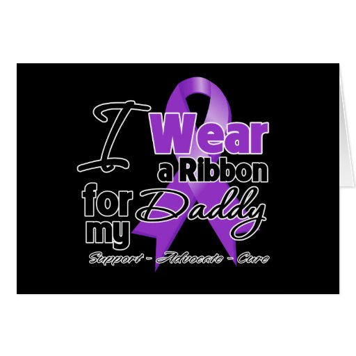 Daddy - Pancreatic Cancer Ribbon Cards