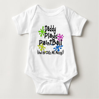 Daddy Plays Paintball Baby Bodysuit