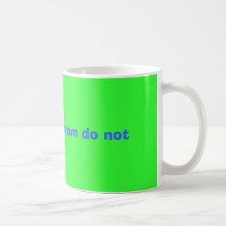 daddy rules mom do not basic white mug