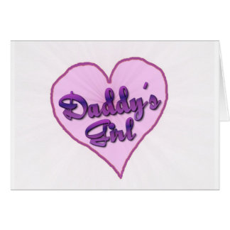 """Daddy""""s Girl Greeting Cards"""