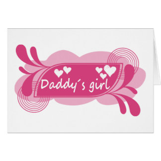 Daddy´s Girl Cute Design! Cards