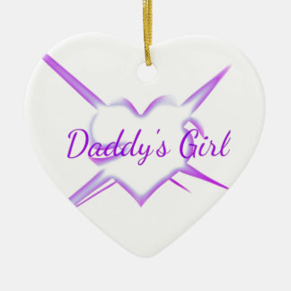 Daddy s Girl Heart Christmas Ornament