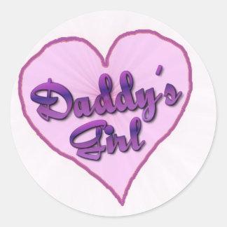 """Daddy""""s Girl Round Sticker"""