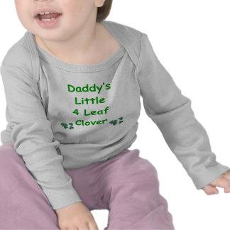 Daddy s Little 4 Leaf Clover Tshirts