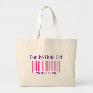 Daddy's Little Girl: Priceless Jumbo Tote Bag