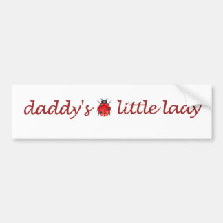 Daddy s little lady bumper stickers