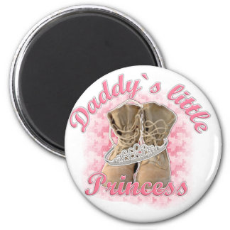 Daddy`s little Princess 6 Cm Round Magnet
