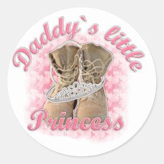 Daddy`s little Princess Round Sticker