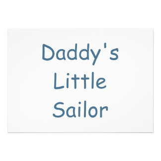 Daddy s Little Sailor Personalized Invitations