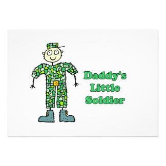 Daddy s Little Soldier Personalized Announcements