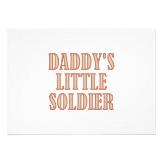 Daddy s Little Soldier tan Invite