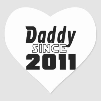 Daddy Since 2011 Heart Sticker