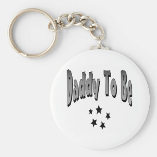 Daddy To Be Basic Round Button Key Ring