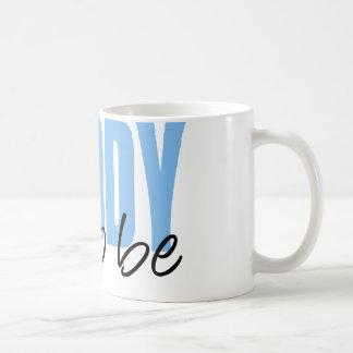 Daddy To Be (Blue Block Font) Basic White Mug