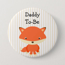 Daddy To Be Button Woodlands Theme