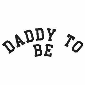 Daddy to be embriodered tee