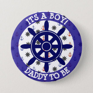 Daddy to be, Nautical Baby Shower button