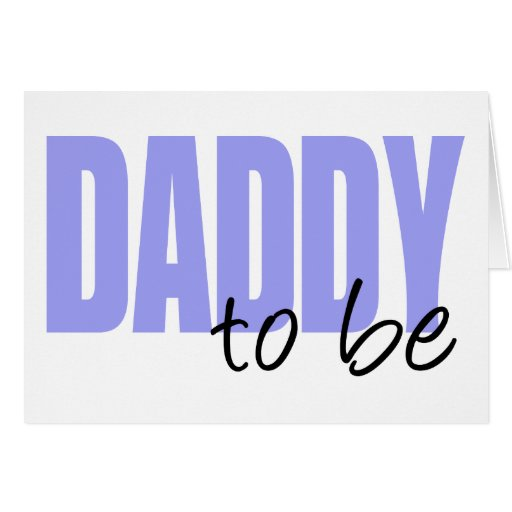 Daddy To Be (Purple Block Font) Cards