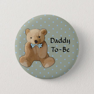 Daddy To Be Teddy Bear Baby Shower Button
