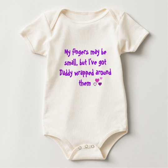 Daddy wrapped around my fingers baby bodysuit