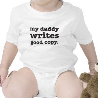 Daddy Writes Good Copy Infant Creeper