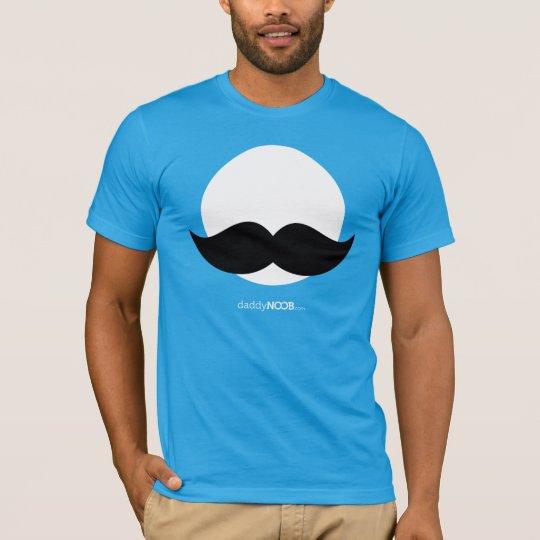 DaddyNoob - Moustache Emblem Blue T-Shirt