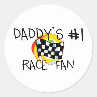 Daddy's #1 Fan Stickers