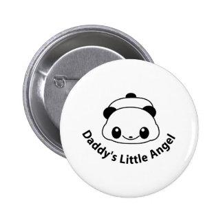 Daddys angel Panda 6 Cm Round Badge