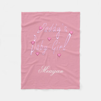 Daddy's Baby Girl Personalized Blanket