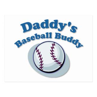 Daddy's Baseball Buddy Postcard