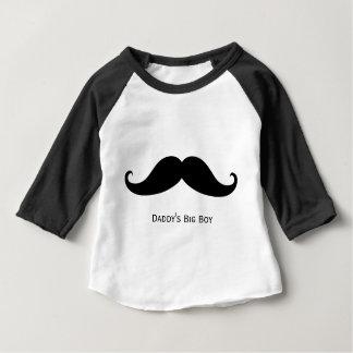 Daddy's Big Boy unique mustache design! Baby T-Shirt