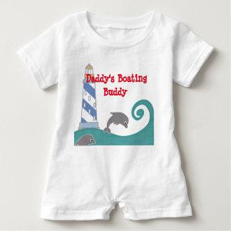 Daddy's Boating Buddy Baby Bodysuit