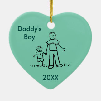 Daddy's Boy Family Character Custom Photo Ornament
